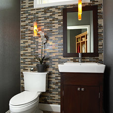 Contemporary Powder Room by Fiddlehead Design Group, LLC