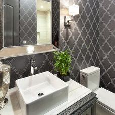 Contemporary Powder Room by SINGLEPOINT DESIGN BUILD INC.