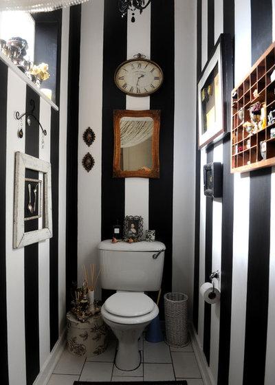 エクレクティック トイレ・洗面所 Guest Bathroom Stripes
