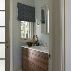 Transitional Powder Room by Elizabeth Martin Design