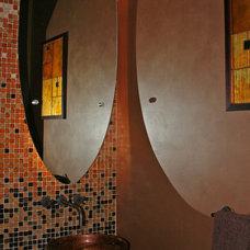 Contemporary Powder Room by The Lawson Design Studio