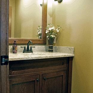 Powder room - craftsman powder room idea in Cleveland