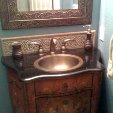 Eclectic Powder Room Half Bath from eBay and Marshalls