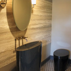 modern powder room by LGS Designs,llc.