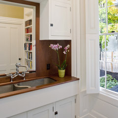 traditional powder room by Helios Design Group