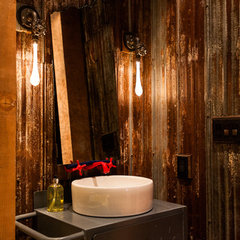 eclectic bathroom by Beyond Beige Interior Design Inc.