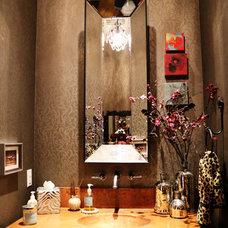 Contemporary Powder Room by Tracy Miller/Miller Greene Design Studio