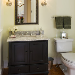 traditional powder room by Carter Inc Builders