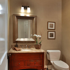 Traditional Powder Room by Laurence Cafritz Builders