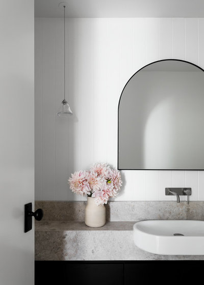 Contemporary Powder Room by Bask Interiors