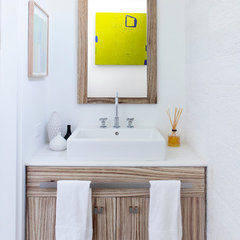 contemporary powder room by Betty Wasserman