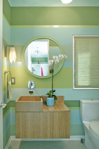 Modern Powder Room by Dufner Heighes Inc