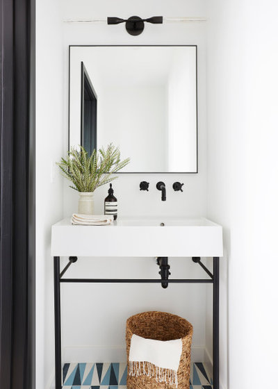 Contemporary Powder Room by SHAPESIDE