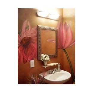 Inspiration pour un WC et toilettes bohème.