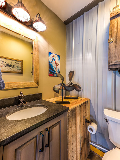 Industrial Powder Room Design Ideas Remodels Photos