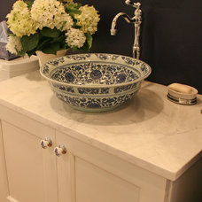 traditional powder room by Interior Changes home design