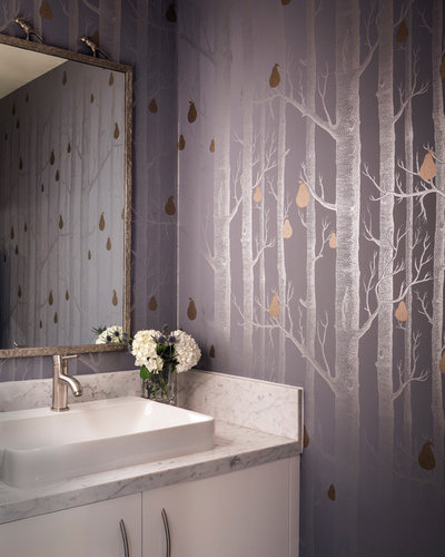 Contemporary Powder Room by Holly Bender Interiors
