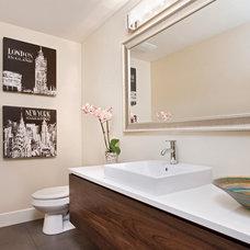 Modern Powder Room by Laurysen Kitchens Ltd.