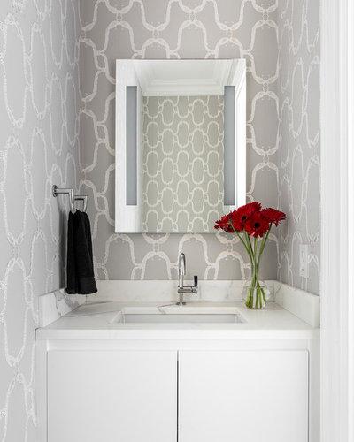 Modern Powder Room by James Wagman Architect, LLC