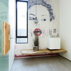 Contemporary Powder Room by ADEET MADAN HOME DESIGNE