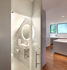 modern powder room by Hugh Jefferson Randolph Architects