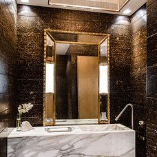 Contemporary Powder Room by Stuart Silk Architects | Limited PS