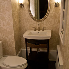 Traditional Powder Room by Erin Marshall Interior Design