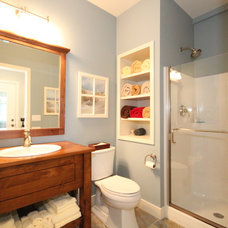 Traditional Powder Room by Cottage Home, Inc.