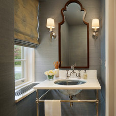 Contemporary Powder Room by Spencer-Abbott, Inc.
