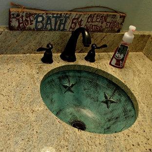 ダラスのラスティックスタイルのおしゃれなトイレ・洗面所の写真