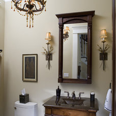 Craftsman Powder Room by Brickmoon Design