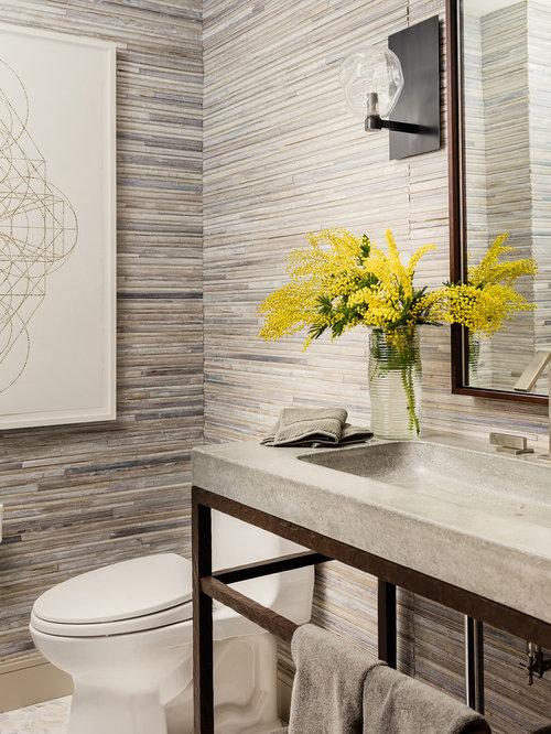 Photos et idu00e9es du00e9co de WC et toilettes avec un carrelage beige