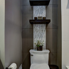 Contemporary Powder Room by SK Interiors