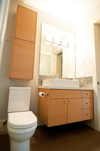 Contemporary Powder Room by Hi-Design Custom Cabinetry