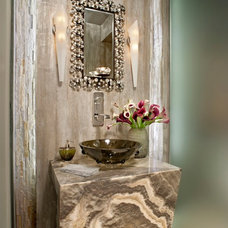 Contemporary Powder Room by Hennessee Haven Design Group, LLC
