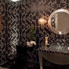 Contemporary Powder Room by Smith Firestone Associates