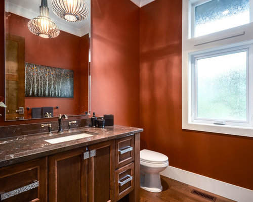 powder room paint color | houzz