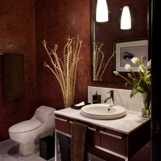 Contemporary Powder Room by ELEVATE interiors + design