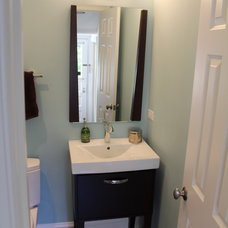 Contemporary Powder Room by Green Living Designs