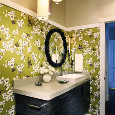 Eclectic Powder Room by Atelier Interior Design