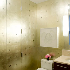 Contemporary Powder Room by The Englander Building Company