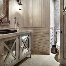 Contemporary Powder Room by JAUREGUI Architecture Interiors Construction