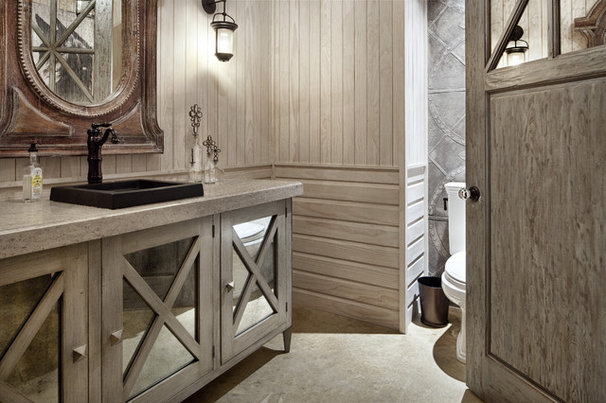 Contemporary Powder Room by JAUREGUI Architecture Interiors Construction