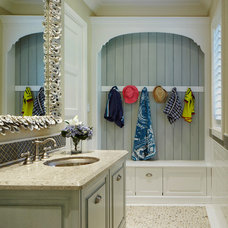 Tropical Powder Room by European Sink Outlet