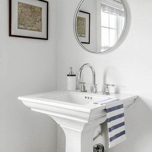 Inspiration för ett vintage toalett
