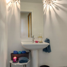 Contemporary Powder Room by Lynne Parker Designs