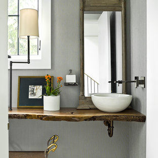 75 Most Popular Powder Room With A Vessel Sink Design Ideas For 2019