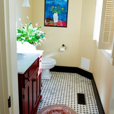 Traditional Powder Room by Merry Powell Interiors