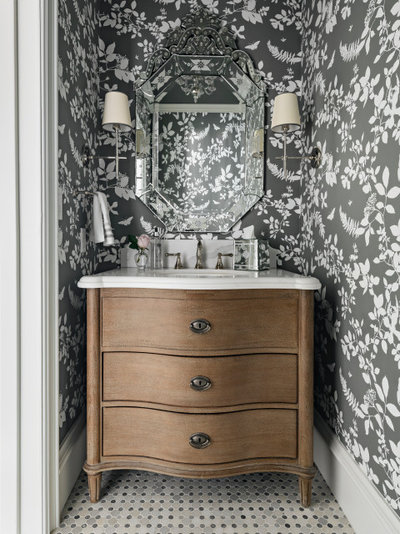 Traditional Powder Room by AFT Construction