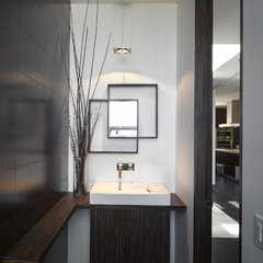 modern powder room by Ken Gutmaker Architectural Photography